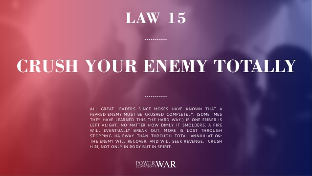 48 Laws of Power: Law #15 Crush Your Enemy Totally
