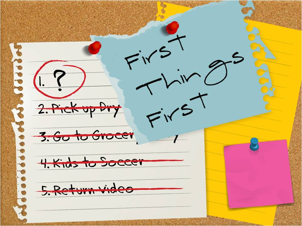 Habit 3. Put First Things First